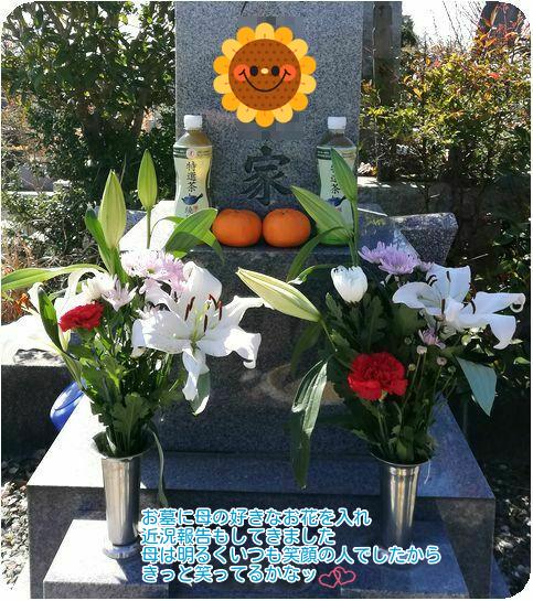 ⑥お墓の花