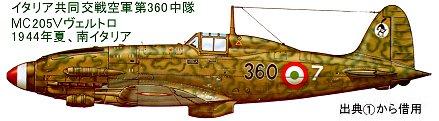 イタリア共同交戦空軍第360中隊MC205V1944年夏downsize