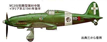 第80中隊MC202イタリア本土1941年後半downsize