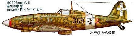第369中隊MC202serieVIIイタリア本土1943年6月downsize