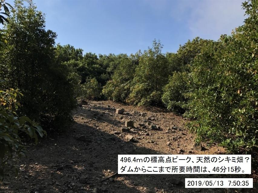 2019年5月13日の諭鶴羽川源流域の大周回