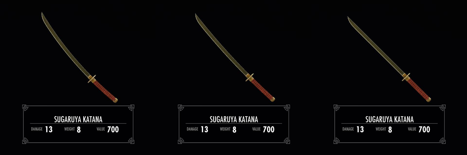 Skyrim SE / LE]: Mod紹介 - Sugaruya Katana - 武器 [紹介]