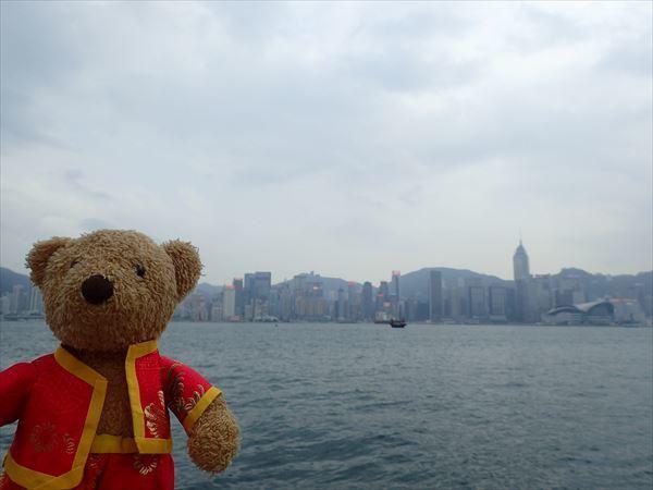 プロムナードから香港島
