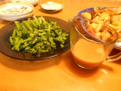 310316のらぼう菜の辛子醤油