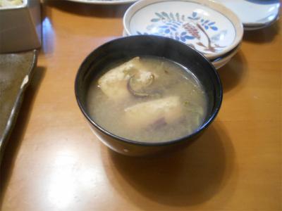 310413ワラビと揚げの味噌汁