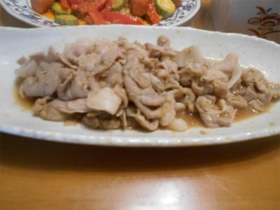 010621豚肉のしょうが焼き
