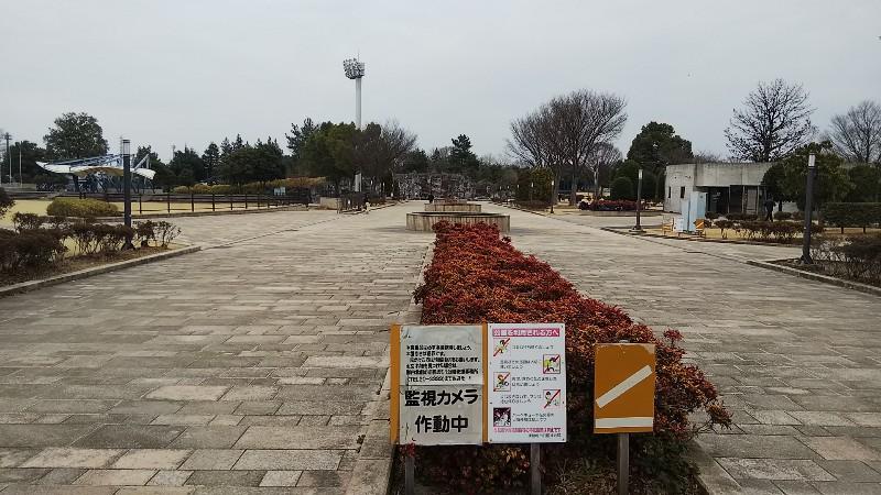 伊勢崎市民のもり公園内入口20190303