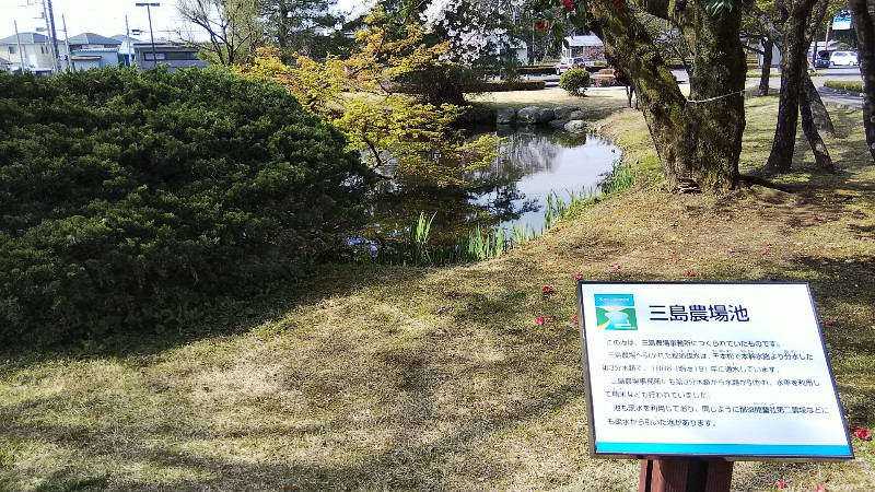 道の駅那須野が原博物館三島農場池201904
