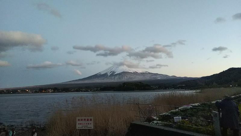 大石公園夕方の富士山201904