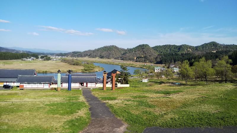 道の駅とざわ最上川景色201905