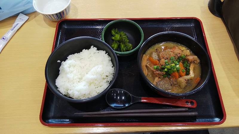 道の駅常陸大宮もつ煮定食201904