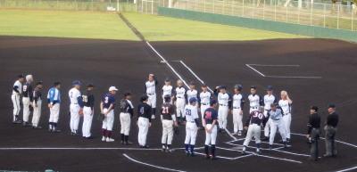 P6173965一塁側市四五会 三塁側 熊本市教組