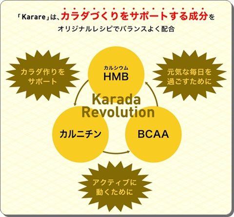 HMB+BCAA+カルニチン配合!日常生活でできる運動でスタイル維持♪アクティブカラダサポートサプリ【karare・カラレ】効果・口コミ。