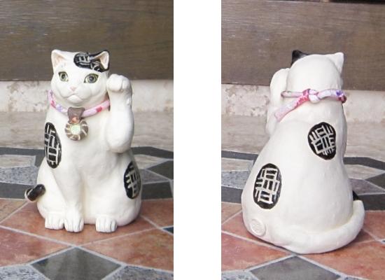 白黒猫の招き猫#すず音窯#陶器 #陶芸家めいこ#招き猫 #猫作家