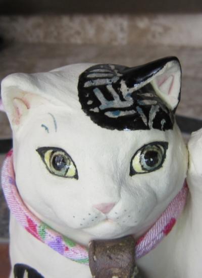 白黒猫おしゃれな招き猫#すず音窯#陶器 #陶芸家めいこ#招き猫 #猫作家