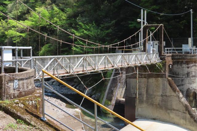 板取取水ダムの吊橋3