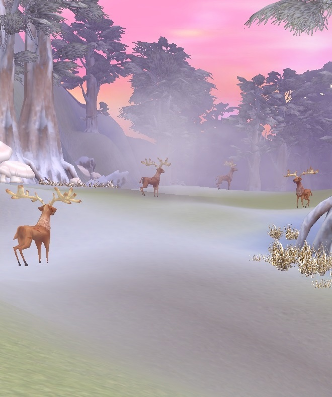 GFブログ(W10)用309A2 GFの風景・雪原の荒野 鹿