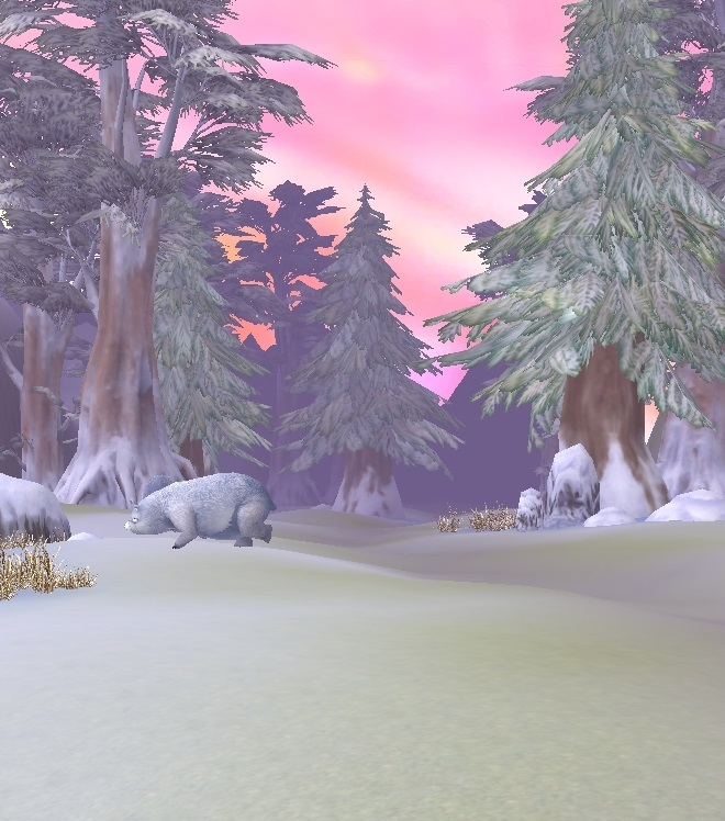 GFブログ(W10)用309A6 GFの風景・雪原の荒野 白熊