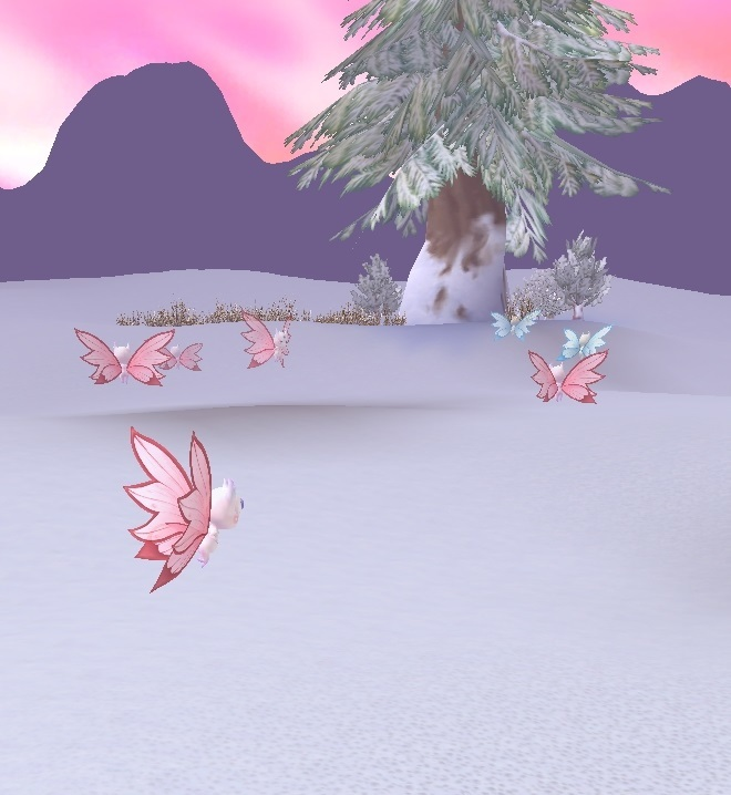 GFブログ(W10)用309A13 GFの風景・雪原の荒野 雪妖精