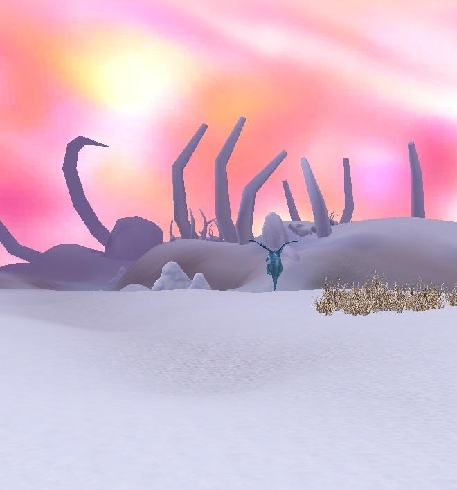 GFブログ(W10)用309A17 GFの風景・雪原の荒野 海辺の巨大骨