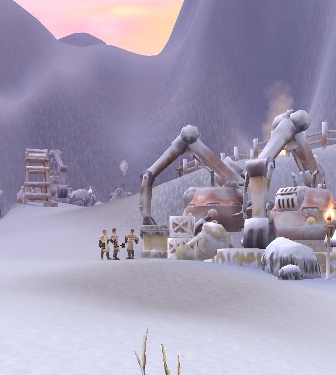 GFブログ(W10)用309A23 GFの風景・雪原の荒野 極地の見張り場