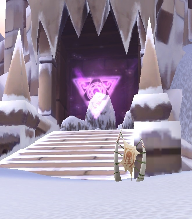 GFブログ(W10)用309A22 GFの風景・雪原の荒野 万獣塔遺跡