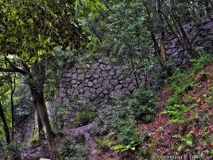 松山城跡南登り石垣