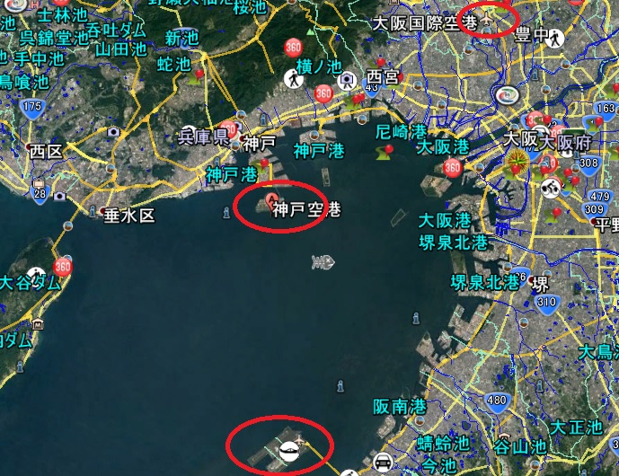 2019-3-22神戸空港関連地図