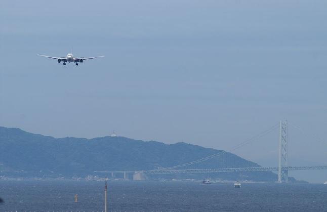 2019-3-22神戸空港への着陸の様子