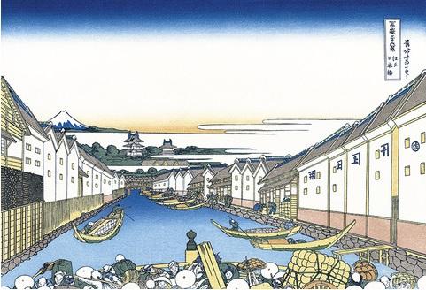 2019-4-18富嶽36景江戸日本橋