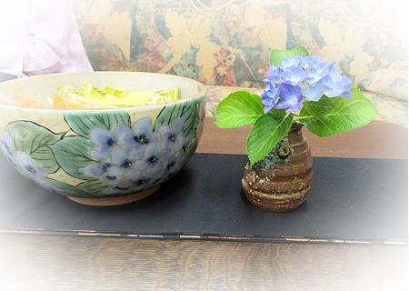 0616陶あん大鉢紫陽花