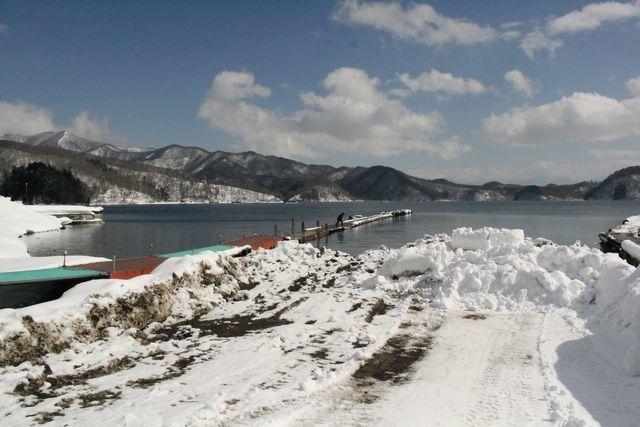 野尻湖 雪