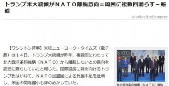 newsトランプ米大統領がNATO離脱意向=周囲に複数回漏らす-報道