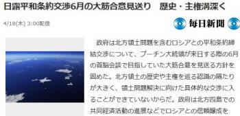 news日露平和条約交渉6月の大筋合意見送り 歴史・主権溝深く