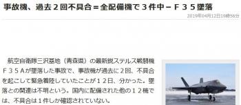 news事故機、過去2回不具合=全配備機で3件中-F35墜落