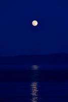 水面にうつるる月