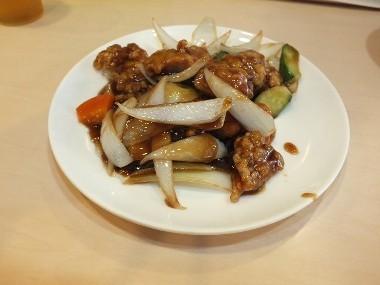 13鶏唐揚げの黒酢あんかけ0414