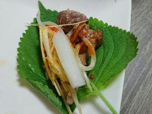 おうちホットプレートでサムギョプサル♪【糖質13.2g/1人分】野菜もたっぷりとれて低糖質!