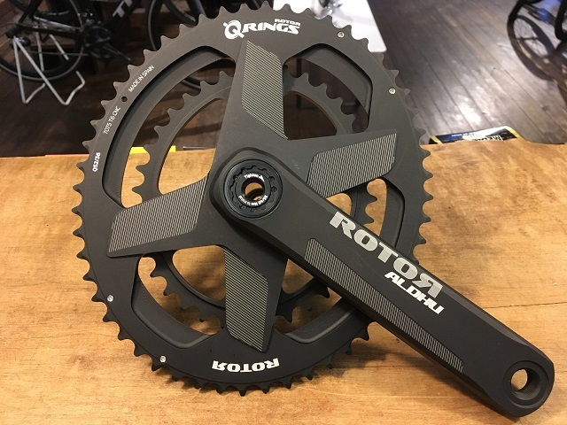 ALDHU CRANKS Q-Rings 装着