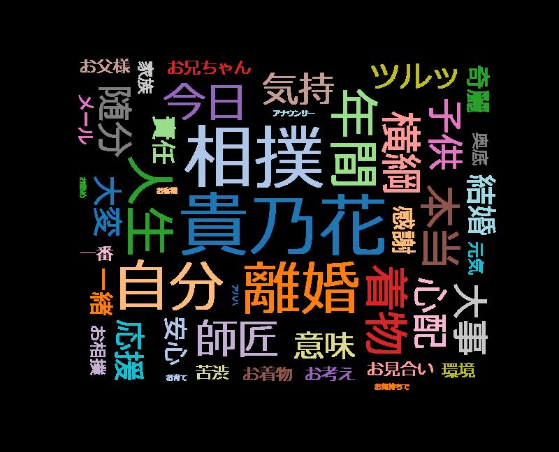 徹子の部屋 河野景子~昨年電撃離婚!23年間の結婚生活をふり返る~