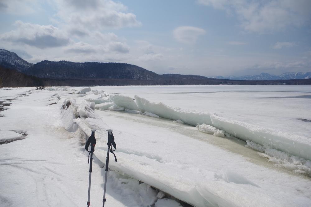 マリゴケ浜 氷