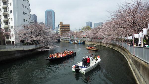 黒船橋から大横川