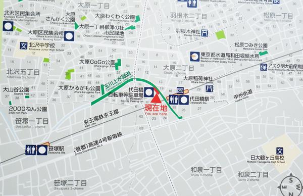 今日の散策の地図