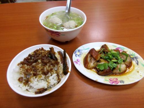 魯肉飯、蹄膀肉、貢丸湯
