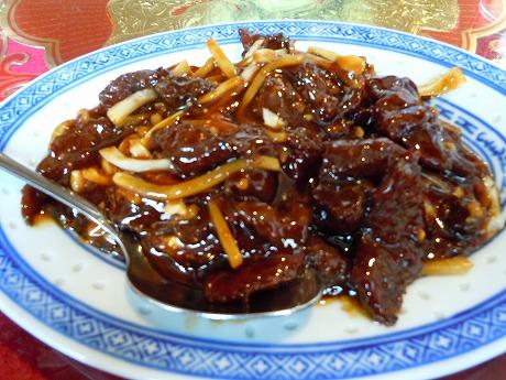 中華牛肉の炒め物