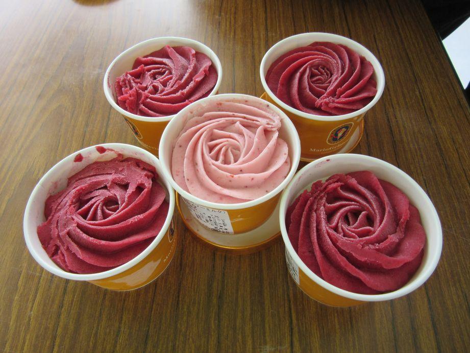 ②ばらのアイスクリーム
