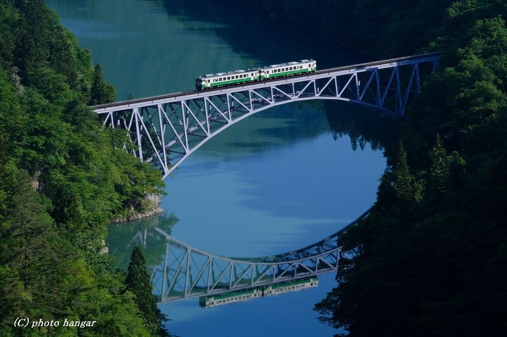 只見線  只見川第一橋梁