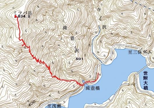 190326 ミツバ岳軌跡