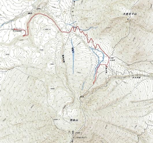 190328 男体山軌跡