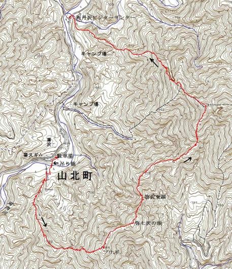190409 石棚山稜軌跡